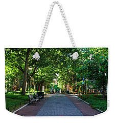 Weekender Tote Bag featuring the photograph University Of Pennsylvania Campus - Philadelphia by Bill Cannon