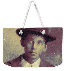 Unknown Boy In A Bowler Hat Weekender Tote Bag by Matt Lindley