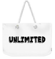 Unlimted Weekender Tote Bag