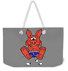 Uno The Cyclops Bunny Weekender Tote Bag by Bizarre Bunny