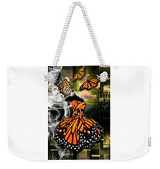 Weekender Tote Bag featuring the mixed media Unrestricted by Marvin Blaine