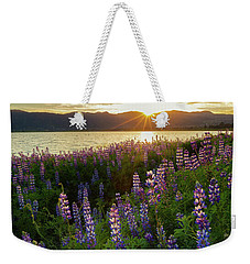 Weekender Tote Bag featuring the photograph Untamed Beauty by Tassanee Angiolillo