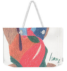Weekender Tote Bag featuring the drawing Untitled Abstract by Rod Ismay