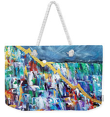 Weekender Tote Bag featuring the painting Untitled by Judith Rhue