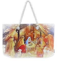 Unto Us A Savior Is Born Weekender Tote Bag