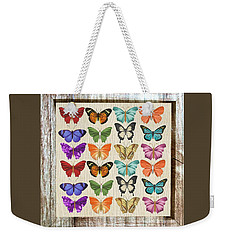 Unusual Colourful Butterfly Collage Weekender Tote Bag