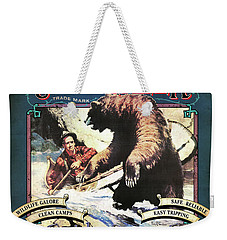 Weekender Tote Bag featuring the painting Up A Creek 1 by JQ Licensing