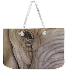 Up And Close With Mr. Elephant Weekender Tote Bag