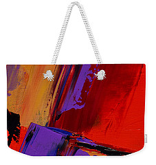 Weekender Tote Bag featuring the painting Up And Down - Art By Elise Palmigiani by Elise Palmigiani