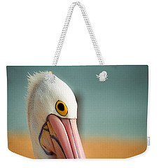 Up Close And Personal With My Pelican Friend Weekender Tote Bag