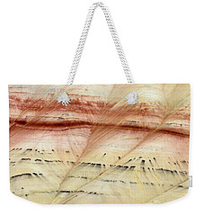 Weekender Tote Bag featuring the photograph Up Close Painted Hills by Greg Nyquist