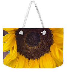 Up Close Sunflower Weekender Tote Bag by Arlene Carmel