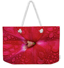 Up Close With Impatiens Weekender Tote Bag