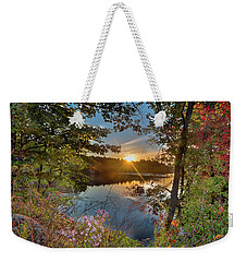 Up Early For The Start Of Fall Color... Weekender Tote Bag