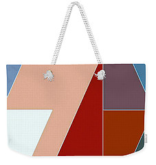 Weekender Tote Bag featuring the digital art Up Hill by Rafael Salazar
