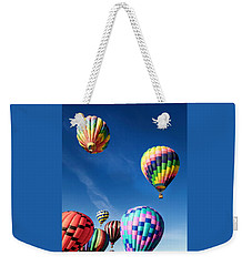 Weekender Tote Bag featuring the photograph Up In A Hot Air Balloon 2 by James Sage