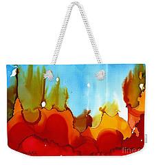 Up In Flames Weekender Tote Bag by Yolanda Koh