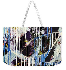 Weekender Tote Bag featuring the painting Up In The Air by Sheila Mcdonald
