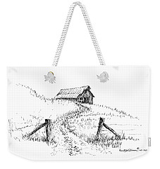 Up The Hill To The Old Barn Weekender Tote Bag