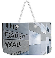 Weekender Tote Bag featuring the photograph Up The Wall-the Gallery Wall Logo by Wendy Wilton