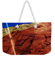 Weekender Tote Bag featuring the mixed media Uplifting by Michelle Dallocchio
