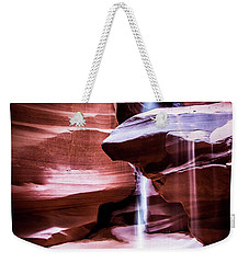 Weekender Tote Bag featuring the photograph upper antelope Canyon by Norman Hall