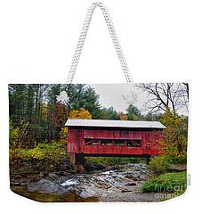 Upper Cox Brook Covered Bridge In Northfield Vermont Weekender Tote Bag