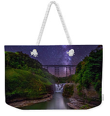 Upper Falls At Night Weekender Tote Bag by Mark Papke