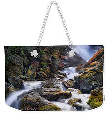 Weekender Tote Bag featuring the photograph Upper Race Brook Falls 2017 by Bill Wakeley