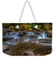 Weekender Tote Bag featuring the photograph Upper Swift River Falls In White Mountains New Hampshire by Ranjay Mitra
