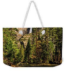 Weekender Tote Bag featuring the photograph Upper Yosemite Falls From Yosemite Creek by John Hight