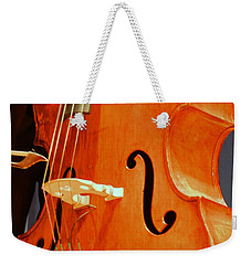 Upright Bass 3 Weekender Tote Bag