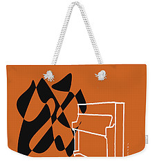 Weekender Tote Bag featuring the digital art Upright Piano In Orange by Jazz DaBri