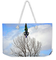 Weekender Tote Bag featuring the photograph Upside Down And All Around by Barbara Dudley