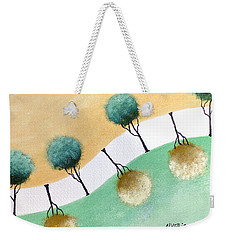 Weekender Tote Bag featuring the painting Upside Down by Edwin Alverio