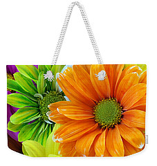 Upstaged By Orange Weekender Tote Bag by Angelina Vick