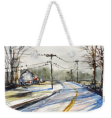 Upstate Ny Sunday Drive Weekender Tote Bag by Judith Levins
