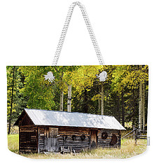 Uptop A Colorado Ghost Town Weekender Tote Bag by Nadja Rider
