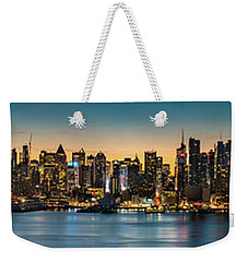 Weekender Tote Bag featuring the photograph Uptown And Midtown At Sunrise by Francisco Gomez
