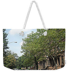 Weekender Tote Bag featuring the photograph Uptown Ny Street by Vannetta Ferguson
