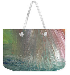 Weekender Tote Bag featuring the painting Downpour by Karen Nicholson