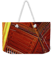 Weekender Tote Bag featuring the photograph Upward Vertigo by Lynda Lehmann