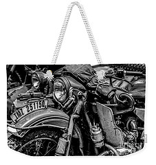 Weekender Tote Bag featuring the photograph Ural Patrol Bike by Anthony Citro
