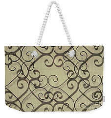urban abstract shadows photograph - Variations On a Screen Weekender Tote Bag