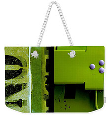Urban Abstracts Seeing Double 40 Weekender Tote Bag