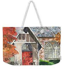 Urban  Church Sketching Weekender Tote Bag