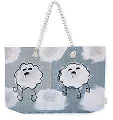 Weekender Tote Bag featuring the photograph Urban Rain Clouds by Art Block Collections