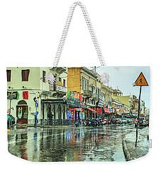 Urban Rain Weekender Tote Bag