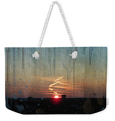 Weekender Tote Bag featuring the painting Urban Sunrise by Ivana Westin