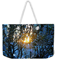 Weekender Tote Bag featuring the photograph Urban Sunset by Sarah McKoy